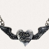 "Vampire Diaries ""I Love Damon"" Necklace"