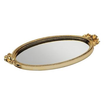 Rose Mirror Tray by Taymor at Gilt