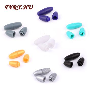 TYRY.HU 10Pairs Plastic Safety Clips for Silicone Teether beads Baby pacifier chain Teething Necklaces DIY Accessories Clamp