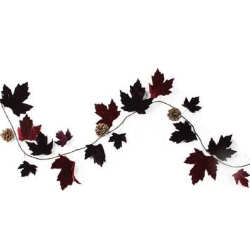 "49"" Nature's Luxury Maple Leaf and Pine Cone Christmas Garland - Unlit"