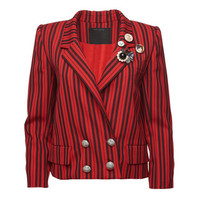 Striped Wool Blazer - Marc Jacobs