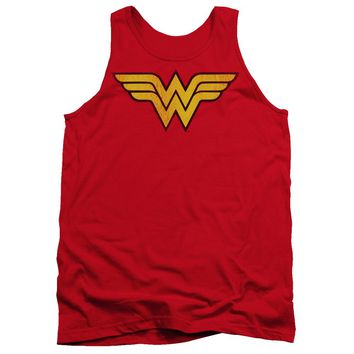 Wonder Woman Logo Dist Adult Tank
