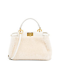 Fendi - Peekaboo Mini Sheep Fur Satchel - Saks Fifth Avenue Mobile
