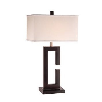 """Anthony California Metal 28"""" H Table Lamp with Rectangular Shade   AllModern"""