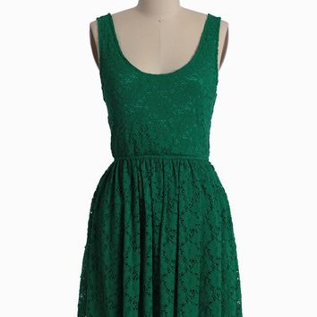 setting sun green lace dress at ShopRuche.com