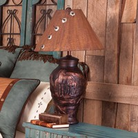 Bronze Look Mare And Foal Table Lamp - Lighting - Home