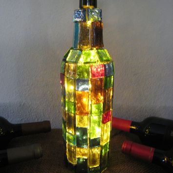 Recycled Wine Bottle Lamp