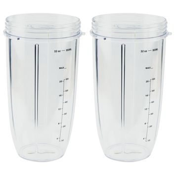 2 Pack NutriBullet 32 oz Tall Colossal Cups Oversized Huge Mug with Measurement NB-101s