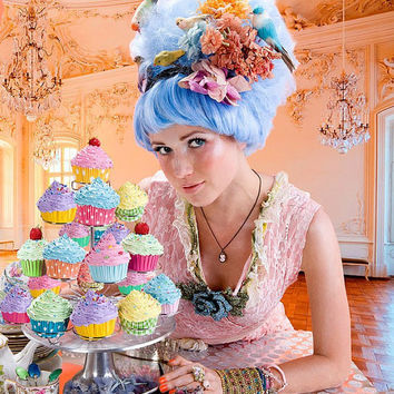 Marie Antoinette Fake Cupcakes for photography session by shimrita