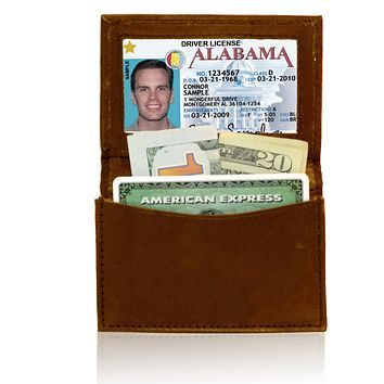 Genuine RFID-Blocking Best Business Card Holder Leather Card Case Excellent Designer - Tan