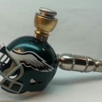Philadelphia Eagles Nickel Straight Chamber Helmet  Pipe