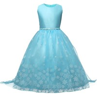 Christmas Halloween Costumes Baby Girls Anna Elsa Dresses for Girls Princess New Year Birthday Dress Snow Queen Kids Clothes