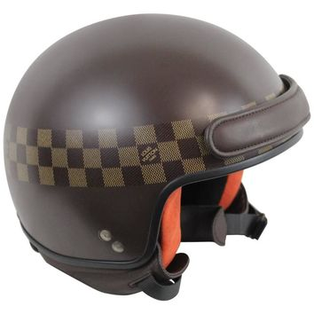 Louis Vuitton Limited edition Motorbike Helmet in Damier Ebene