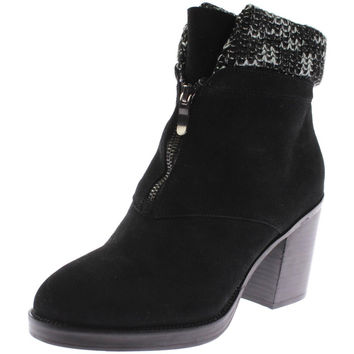 Chinese Laundry Womens Marvel Suede Round Toe Ankle Boots