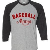 Baseball Mama Shirt, Baseball Mom Tshirt, Baseball Mom Spirit, Sports Mama Shirt, Baseball Fan Clothing, Ladies Baseball Shirt Raglan, Tee