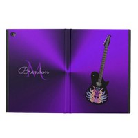 Purple Electric Guitar Monogram iPad Air Case