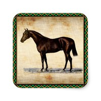 Brown Horse Square Sticker