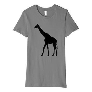 Majestic Giraffe t-shirt Cool Jungle Zoo Animal Silhouette