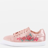 CAMILLA Embroidery Trainers | Topshop