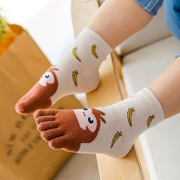 New Year Kawaii Five Finger Sock Children Socks Cotton Animal Boys Girls Socks Toe Socks for Kids