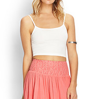 FOREVER 21 Lovely Lace Skirt Coral
