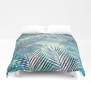Tropical forest Duvet Cover by printapix