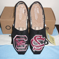 South Carolina Gamecocks handpainted TOMS shoes