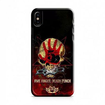 Death Punch Skull iPhone X Case