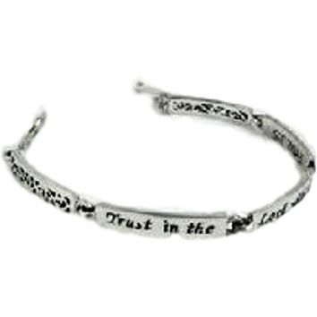 "Bangles from Heaven-"" Faith  Hope  Love "" Link Bracelet"