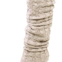Simplicity Women Leg Warmers Knit Boot Cuffs Socks Toppers Long Size Coffee