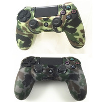 2017 Durable Camouflage Camo Silicone Rubber Soft Sleeved Skin Grip Cover Case Protector For Playstation 4 Ps4 Ps 4 Controller