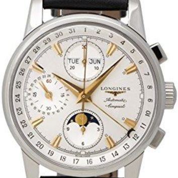 Longines Conquest Heritage Automatic Chronograph Steel Mens Watch Silver Dial Calendar L1.642.4.77.2