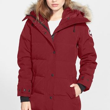 Women's Canada Goose 'Shelburne' Slim Fit Genuine Coyote Fur Trim Down Parka