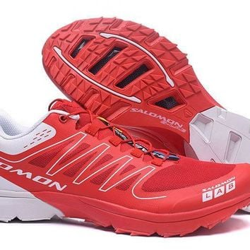 Salomon Men's L39177200 S-Lab Sense 6 SG Red White Trail Running Sneaker Shoe