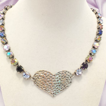 Shop Swarovski Purple Heart Necklace on Wanelo 506e63fc84