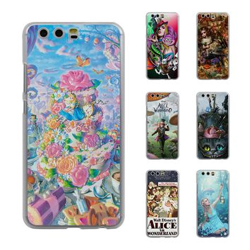 Princess Tattooed Girls Alice in Wonderland Style Thin transparent phone Cover Case for Huawei P10 P10lite P8 P9 lite Mate8 Mate