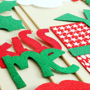 Ugly Sweater Party Idea Christmas Photo Booth Props Holiday Photo Booth Featuring Santa and Friends, Fun Holiday Party Idea, christmas gifts