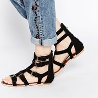 Ravel Gladiator Leather Flat Sandals