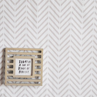 Deconstructed Herringbone Removable Wallpaper