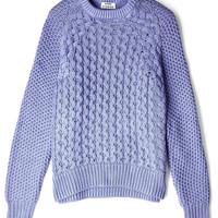 Blue Ruth Air Cable Knit Sweater by Acne