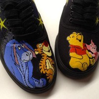 Any Size 5.5-13 Hand Painted Winnie the Pooh Piglet Tigger Eeyore Disney Inspired Gala