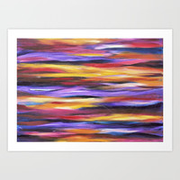 Purple Waves Art Print by mariameesterart