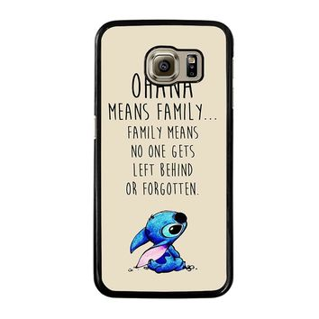 STITCH LILLO OHANA FAMILY QUOTES Samsung Galaxy S6 Case Cover