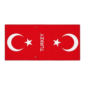 Binder with Flag of Turkey