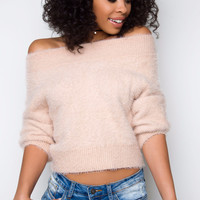 Under The Stars Off The Shoulder Top - Blush