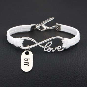 Best Friend Jewelry - BFF - Friendship - Infinity Love Charm Bracelets