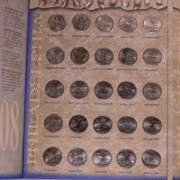 1999-2008 Complete D & P Circulated State Quarters 100 coins Quarter Collection