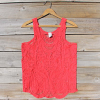 Summer Snow Lace Tank in Watermelon