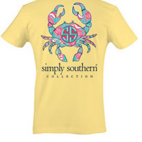 Simply Southern Crab Tee - Yellow