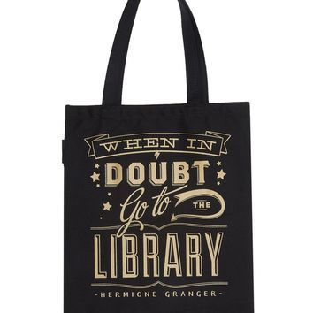When in Doubt Go to the Library tote bag – Out of Print